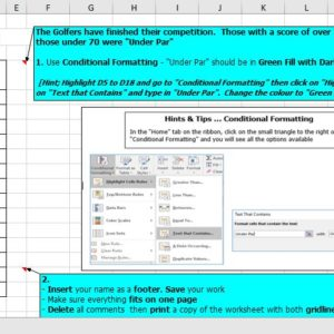 Conditional Formatting, Excel Spreadsheets, N5 Admin & I.T, H Admin & I.T