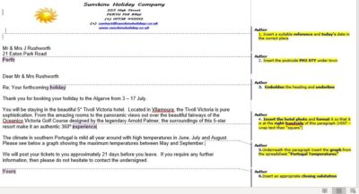 Microsoft Word, Integrated Business Letters, N4 Admin &I.T, N5 Admin & I.T