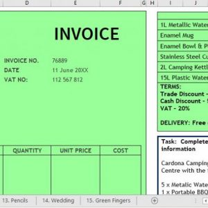Invoices on Excel